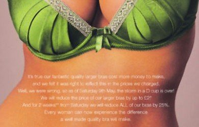 Successful marketing requires technical excellence. M&S boobed by charging extra for larger bras