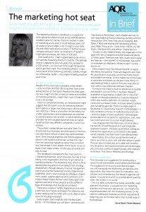 Ann Ward, AQR In Brief reviews The Marketing Directors Handbook