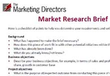 Market research brief guidelines