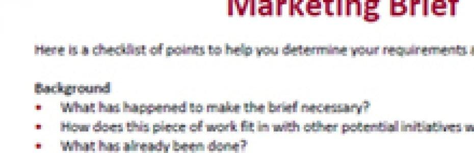 Briefing marketing agencies