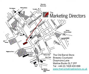 Map to find The Marketing Directors Marketing Consultancy in Marlow