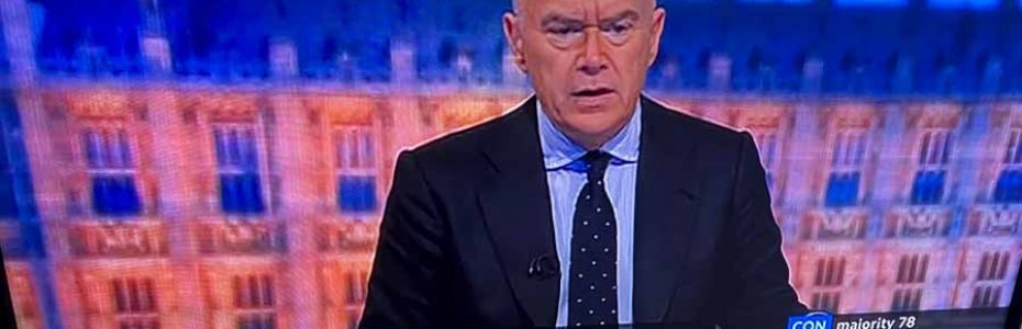 Marketing politics : Huw Edwards hosting the BBC General Election coverage